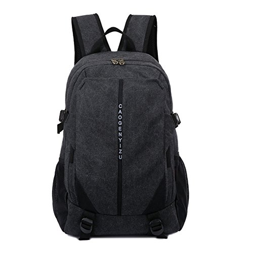 Canvas Tasche Männer Und Frauen Rucksack Tasche Freizeit Tasche 15 Zoll Computer Bag Sporttasche Einfache, Khaki Schwarz