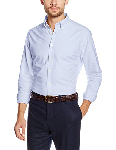 Hackett London Slim Washed Oxford, Chemise Business Homme Bleu (Sky 513)