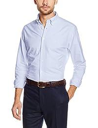 Hackett London Slim Washed Oxford, Camisa para Hombre
