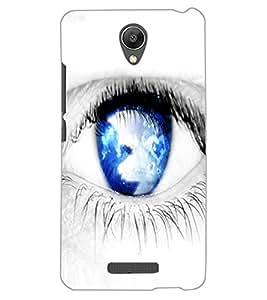 ColourCraft Blue Eye Design Back Case Cover for XIAOMI REDMI NOTE 2 PRIME