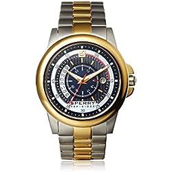 Sperry 103190 Herren Edelstahl Zwei-Ton Armband Band Schwarz Dial Smart Watch