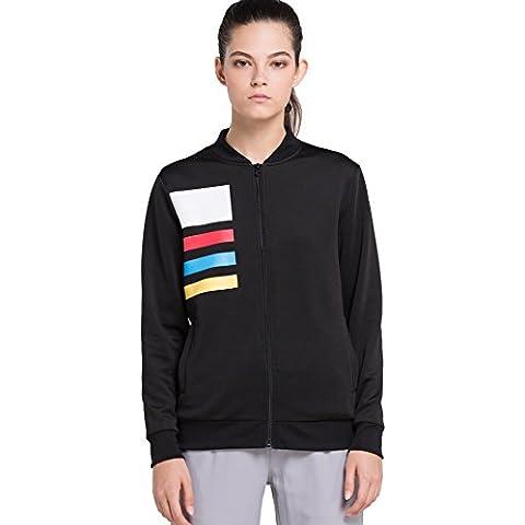 Cody Lundin donne sport outdoor fitness gratuita manica cappotto di inverno giacca lunga nera