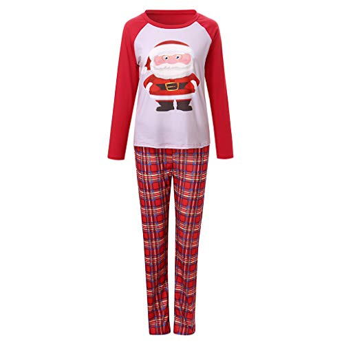 (KAYLEY Weihnachtspyjamas Family Passende PJS-Sets für die Familie Santa Sleepwear Nightwear)