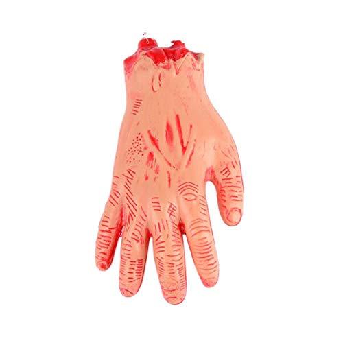 (Storagc 2 Stück Halloween Broken Hand gebrochen Fuß Prop Simulierte Prothese Blutige Hand Fuß Trick Scary Spielzeug Spukhaus Prop für Halloween Party, Nachtclub Dekoration, Tricky Requisiten.)