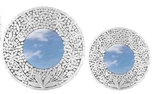 deko spiegel zara holz 2 gr en wandschmuck gr sse ca 40 cm k che haushalt. Black Bedroom Furniture Sets. Home Design Ideas