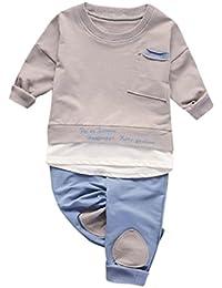 77a917e6ae2aa6 Bekleidung Longra Baby Kinderkleidung für Mädchen Jungen Langarm Tops Shirt  + Hosen 2Pcs Set Anzug Outfits