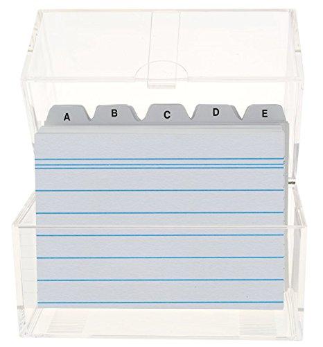 Toppoint 49973 - Karteikasten A8 Plastik gefüllt A-Z transparent
