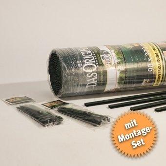Videx-Sichtschutzmatte Rügen, grün, 50 Schlaufen, 3m U-Profil, 180 x 300cm