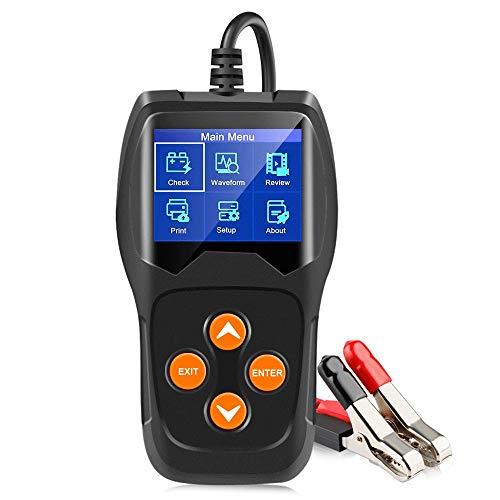 Tester Batterie Auto Professionale Con Stampante,Tester batteria per auto indipendentemente dal modello, adatto a tutti i tipi di benzina, olio, veicoli elettrici ibridi 12V, batterie di emergenza,A
