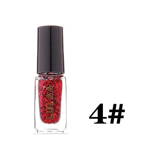 Bluestercool Vernis à ongle, 5 ml Glitter Vernis à ongles à Sequins 12 Couleurs (04#)