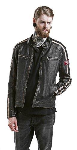 Gipsy Race Leder-Jacke dunkelbraun Dunkelbraun
