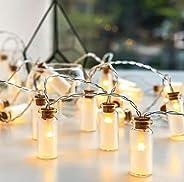 CajuArt 10 Adet Ufak Cam Şişe İçerisinde Dekoratif Led Işık