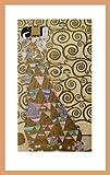 Gustav Klimt Die Erwartung Poster Kunstdruck Bild im Holz Rahmen in Buche natur 80,6x51,6cm - Germanposters