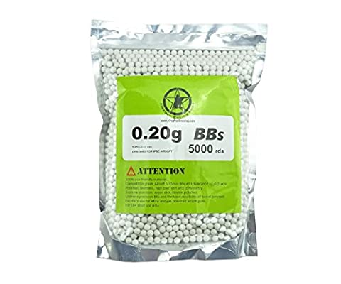 AOLS Airsoft BBs 6mm 0.20g 5000rds White