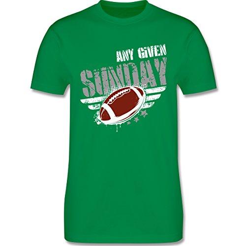Shirtracer American Football - any Given Sunday Football - Herren T-Shirt Rundhals Grün