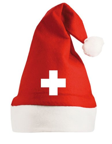 world-of-Shirt Schweiz / Suisse Kreuz Nikolausmütze Nikolaus Mütze|rot