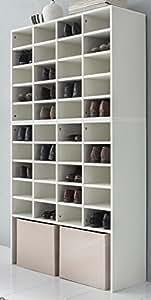 schuhschrank weiss grosses schuhregal weiss bv vertrieb mehrzweckregal weiss 2842. Black Bedroom Furniture Sets. Home Design Ideas