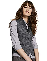 df65e136d3fe8e Simon Jersey Women's Wool Tweed Waistcoat