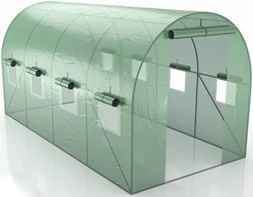 Générique Serre de Jardin Tunnel - bache armée - 8m2, 4x2m- en polyéthylène armée - Anti UV