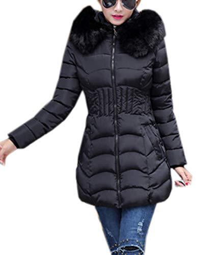 Jackenlove autunno inverno donne taglie forti piumino con cappuccio casual lunghezza media hoodie outerwear tops giaccone moda tenere caldo manica lunga piumini cappotti parka coat cime