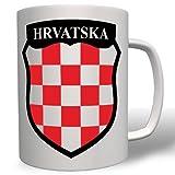 Republik Kroatien HRVATSKA Wappen Fahne Flagge Zagreb - Tasse Becher Kaffee #5221