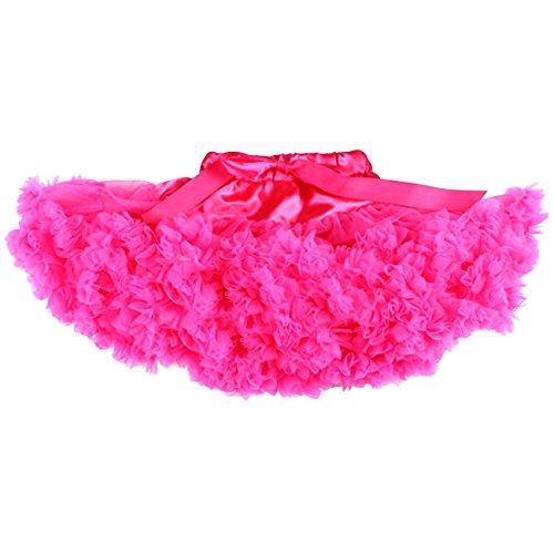Honeystore Mädchen's Einfarbig Petticoat Tanz Tutu Kostüme Rock Fuchsie (Kostüme Und Romeo Diy Julia)