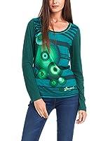 Desigual Diane - T-shirt - À rayures - Col bateau - Manches longues - Femme