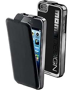Cellular Line MOMOCONVIPHONE5BK MomoDesign Coque Arrière avec Rabat Amovible pour iPhone 5 Noir
