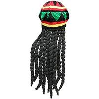 NUOVO donna uomo adulto giamaicano cappello parrucca con rasta CASCHETTO  MARLEY Costume ac129bc805a5