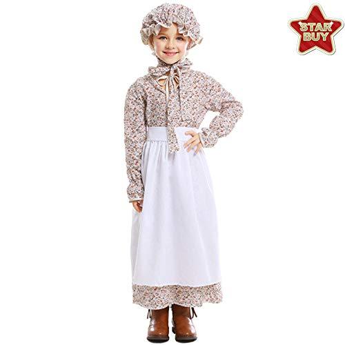 Kostüm Wolf Childs - COSOER Wolf Oma Cosplay Eltern-Kind-Kostüm Märchenmotiv Kleidung Garden Farm Rock Für Halloween,Child-L