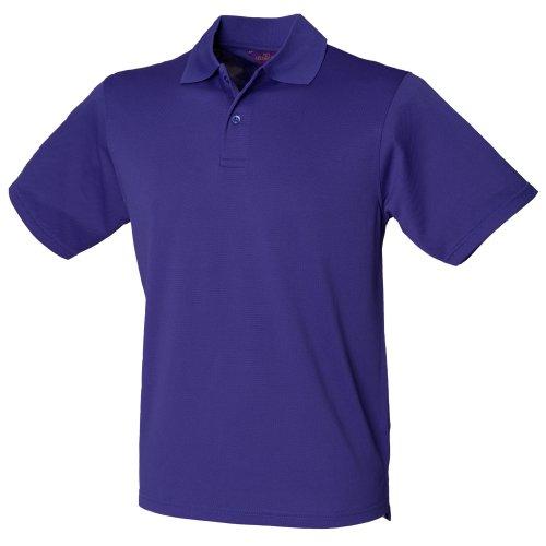 Henbury Herren Polo-Shirt Coolplus Pique Orange