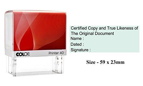 Colop Printer 40 Personalized Business Office Stamp Timbro di gomma riutilizzabile personalizzato