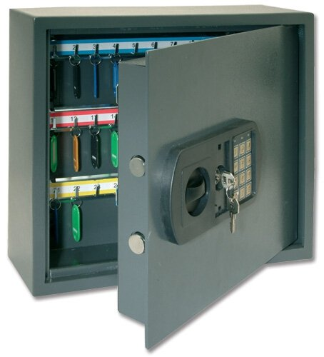 Helix CP9060 - Safe for keys (high security, with electronic keypad, double bolt of 30 mm, for 60 keys)