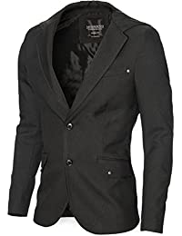 MODERNO - Slim Fit Veste Homme Blazer avec Capuche (MOD14516B)