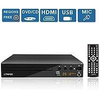 Lecteur DVD Compact 1- 6 Multi-Régions Free, Sortie HDMI / AV, Entrée USB & MIC Port et Télécommande (LP099)