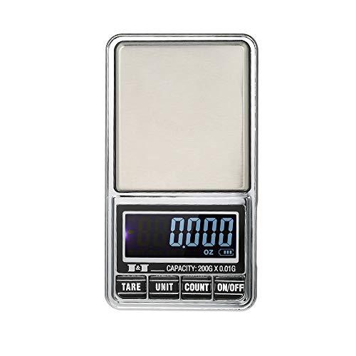 * 600 g 0,01 g / 1000 g 0,1 g * Escala de bolsillo de la joyería Mini Digital con 7 unidades de g, ozt, ct, dwt, GN, t y Oz.Caracteristicas: Diseño ultra-compacto y una excelente calidad. capacidad 600g opcional con exactitud 0,01 g o capacidad de 10...