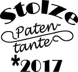 Mister Merchandise Herren Men T-Shirt Stolze Patentante 2017 Tee Shirt bedruckt Weiß