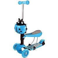 Beauty Talk Scooter Kickboard Niños Roller ajustable y plegable con 4 ruedas a partir de 3
