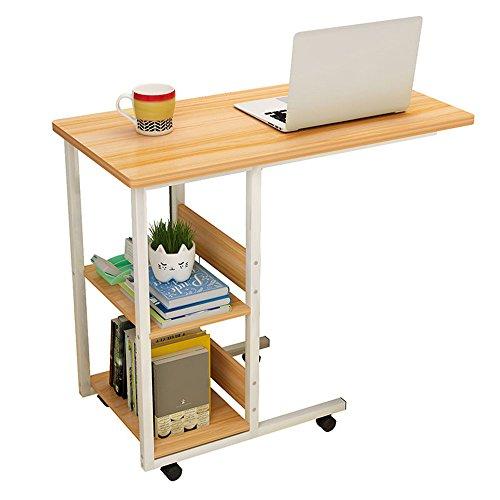 Fufu wall mount comodino per portatile scrivania con rotelle tavolino da salotto scorrevole sotto tavolo consolle con vano portaoggetti per ingresso 80 * 40 * 75cm tabella drop-leaf (colore : noce)