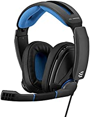 EPOS Sennheiser GSP 300 Headset with Noise-Cancelling Mic, Flip-to-Mute, Comfortable Memory Foam Ear Pads, Hea