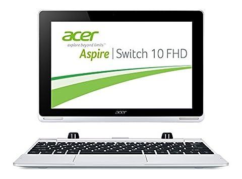 Acer Aspire Switch 10 FHD (SW5-012) 25,6 cm (10,1 Zoll) Convertible Notebook (Intel Atom Z3735F Quad-Core 1,3GHz, 2GB RAM, 64GB eMMC, Intel HD Grafik, Full-HD IPS Display, Win 8.1, Touchscreen) silber