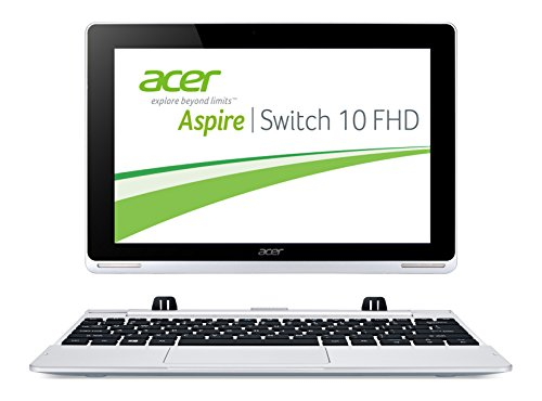 Acer Aspire Switch 10 FHD (SW5-012) 25,6 cm (10,1 Zoll) Convertible Laptop (Intel Atom Z3735F Quad-Core 1,3GHz, 2GB RAM, 64GB eMMC + 500GB HDD, Intel HD Grafik, Full-HD IPS Display, Win 8.1, Touchscreen) silber (Acer Aspire Switch 10)
