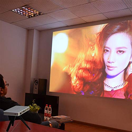 JU FU Projector - Lightweight And Portable  Double Screen  Glass Mirror  Smart Touch  Projection Screen 0 3-6 Meters  Built-in Battery  Suitable For Families     Color   White