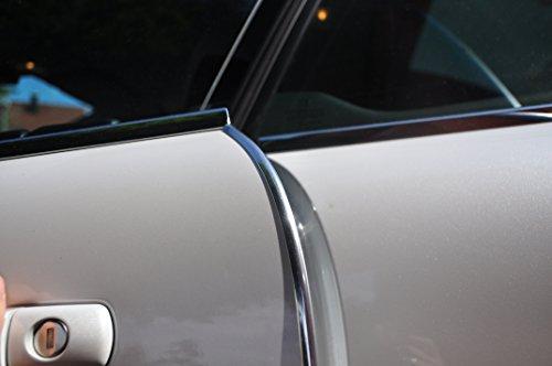 Preisvergleich Produktbild 8 Meter Türkantenschutz Chrom Türrammschutz Gummi schützen Sie effektiv Ihren kostenbaren Auto Lack