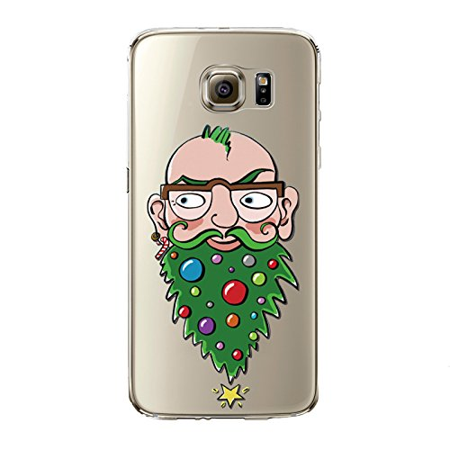 Christmas Hülle iPhone 7 / iPhone 8 LifeePro Weihnachts Cover Ultra dünn Weiches Transparent TPU Gel Silikon Handy Tasche Bumper Case Anti-Scratch Back Cover Full Body Schutzhülle für iPhone 7 / iPhon Beautifully-bearded Gentleman
