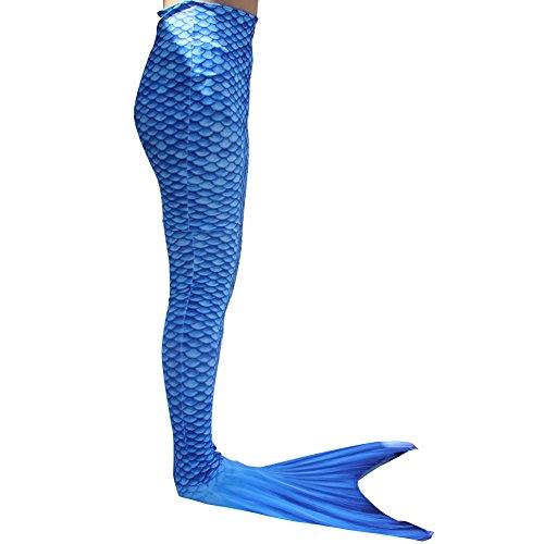 Dressyday Mädchen Gemalt Meerjungfrau Kostüm Meerjungfrauenschwanz für  Kinder Schwimmen mit Meerjungfrau Flosse(Mädchen 10, (Kostüm Barbie Meerjungfrau)