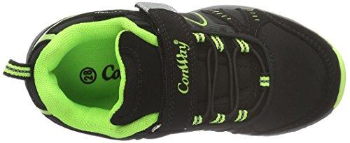 Conway - 155805, Scarpe sportive outdoor Unisex – Bambini Multicolore (Mehrfarbig (schwarz/grün))