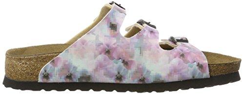 Papillio Florida Birko-Flor Softfootbed, Mules Femme, Pixel Rose Mehrfarbig (Pixel Rose)