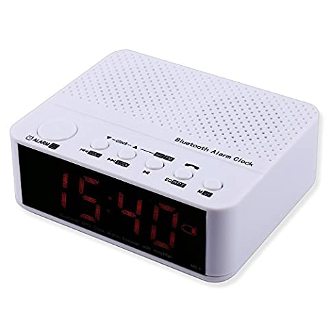 Bluetooth Alarm Clock Radio- Portable Desktop Alarm Clock Bluetooth Speaker