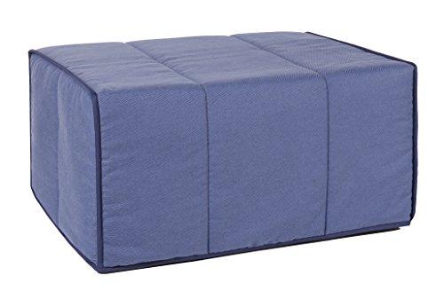 Quality Mobles - Cama Plegable Individual de 80x180 cm Funda Color Azul